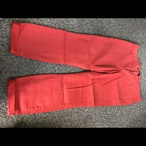 Coral colored jeans